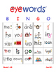 Sight Word Bingo, Eyewords 1-25