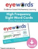Eyewords Multisensory Color, Number and Shapes Cards Bundle