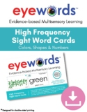 Eyewords Color, Number and Shapes Flashcards/Wordwall Card