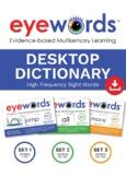 Eyewords Desktop Dictionary, Sets #1-3, Words 1-150