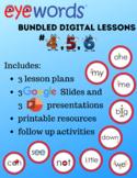 Eyewords Lesson #2 Bundle, Lessons 4-6 (Digital Download)