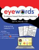 Eyewords Lesson Mega Bundle, Lessons 1-15 (Digital Download)