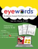 Eyewords Lesson Mega Bundle, Lessons 16-30, Words 51-100