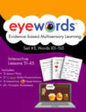 Eyewords Lesson Mega Bundle, Lessons 31-45, Words 101-150