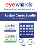 Eyewords® Mulstisensory Sight Words Pocket Chart Cards Bun