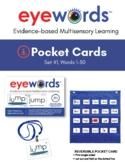 Eyewords® Mulstisensory Sight Words Pocket Chart Cards, Se