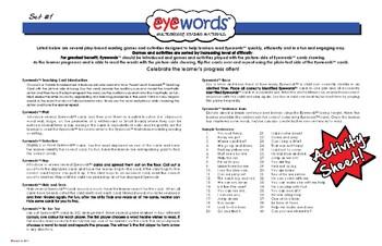Sight Words Eyewords Multisensory Games & Activities Sheet