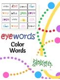 Sight Word Colors - Eyewords Multisensory Flashcards/Wordw