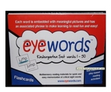 Sight Words Eyewords Multisensory Flashcards/Wordwall Cards 1-50