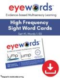 Sight Words Eyewords Multisensory 1-50 Teaching Cards