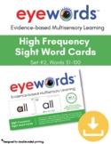 Sight Words Eyewords Multisensory Flashcards/Wordwall Card