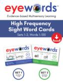 Eyewords Multisensory Sight Words Bundle - Words 1-100