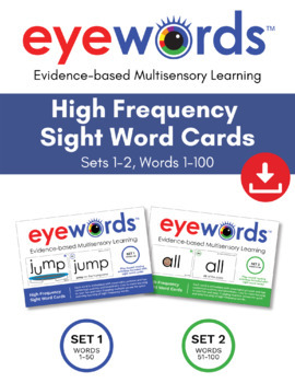 Eyewords Multisensory Sight Words Bundle - Words 1-100