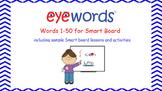 Sight Words Interactive Notebook, Eyewords Words 1-50
