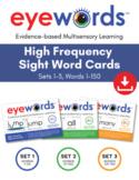 Eyewords Multisensory Teaching Cards Bundle, Words 1-150 (