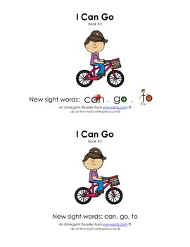 Sight Word Stories, Eyewords Booklet 3: can, go, to