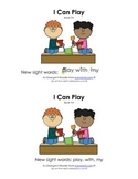 Sight Word Stories, Eyewords Booklet 4: play, with, my
