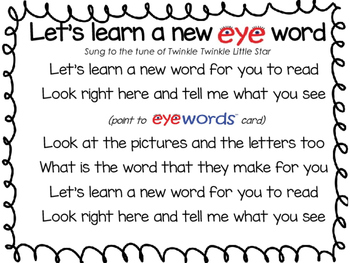 Sight Words Song - Eyewords