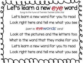 Sight Words Song - Eyewords
