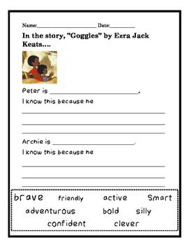 Ezra Jack Keats Goggles study
