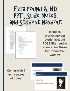 Ezra Pound and H.D. PPT, Notes and Handout