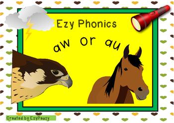 Ezy Phonics Sounds Aw Or Au