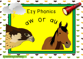 Ezy Phonics Sounds Aw Or Au