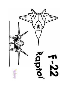 F-22 Raptor Airplane Coloring Page