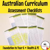 F-6 Australian Curriculum Assessment Checklists BUNDLE - H