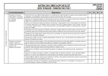 F-6 Digital Technologies BUNDLE - Australian Curriculum Checklists