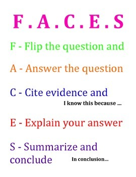 F.A.C.E.S. Poster / Anchor Chart