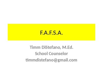 F.A.F.S.A. Class of 2016