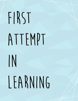F.A.I.L = First Attempt In Learning