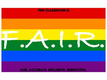 F.A.I.R. Act classroom sign