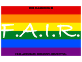 F.A.I.R. Act classroom sign