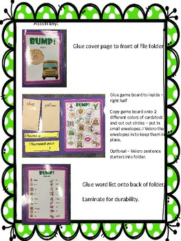 F All Positions Articulation Bump! File Folder Game