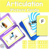 Articulation Picture Cards for F