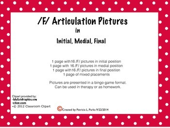 /F/ Articulation Pictures
