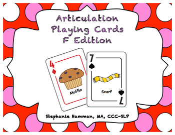 F Articulation Playing Cards