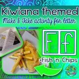F = Fish 'n' Chips {Kiwiana Themed 'Make & Take' Alphabet Set}