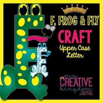 F - Frog and Fly Upper Case Alphabet Letter Craft