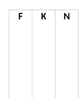 F K N Letter sort