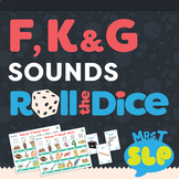 Speech Therapy Roll the Dice Games: F, K, and G Sounds
