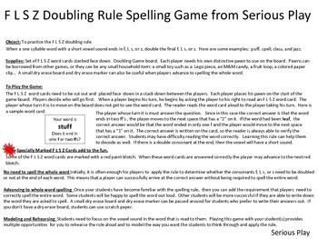 F-L-S-Z Doubling Rule Spelling Game