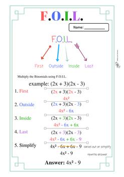 F.O.I.L. Scaffolded Worksheets