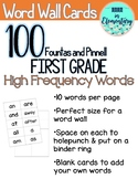 F&P 100 First Grade High Frequency Words