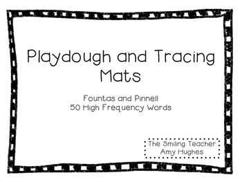 F&P 50 Words Playdough and Tracing Mats