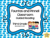 F & P Classroom Third Grade Guided Reading Comprehension Questions