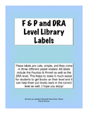 F&P DRA Library Labels