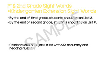 F&P High-Frequency Word Lists